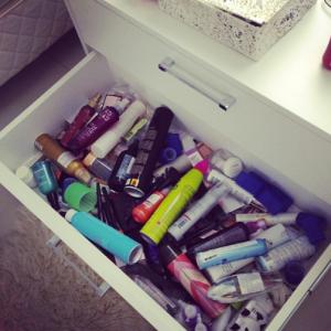 gaveta de cosméticos